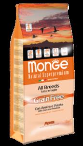 Monge superpremium grain free anatra crocchette per for Crocchette monge opinioni