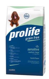 Prolife – Grain Free Sensitive Medium Pesce